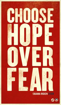 Richard Perez. Choose Hope Over Fear. Bienal del Cartel Bolivia BICeBé® 2013