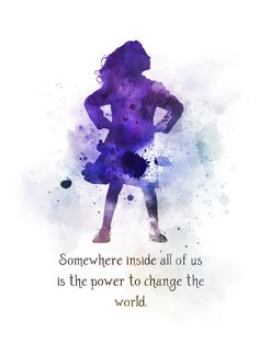 Matilda Quote ART PRINT Roald Dahl Nursery Inspirational Gift Wall Art Home Decor Gift Ideas Birthday Christmas Childrens Book watercolour Somewhere inside all of us is the power to change the world Broadway Quotes, Disney Movie Quotes, Theatre Quotes, Hades Disney, Moon Quotes, Life Quotes, Lyric Quotes, Qoutes, Positive Quotes