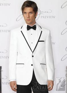 White 'Savoy' Tuxedo from http://www.mytuxedocatalog.com/catalog/rental-tuxedos-and-suits/C943-White-Savoy-Tuxedo/