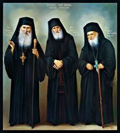 A female American professor once told an Orthodox clergyman the desire of the Pope to invite Elder Paisios and Elder Porphyrios to the Vati. Orthodox Catholic, Orthodox Christianity, Russian Orthodox, Religion And Politics, Byzantine Icons, Orthodox Icons, Religious Art, Religious Pictures, Kirchen