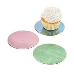Color Cupcake Boards - OrientalTrading.com
