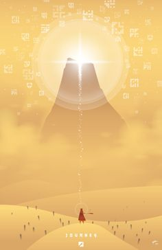 That Game Company ~Journey~ poster by PencilJet.deviantart.com