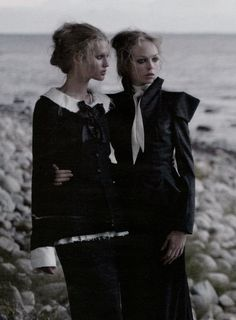 siri tollerod and toni garrn by karl lagerfeld for vogue germany