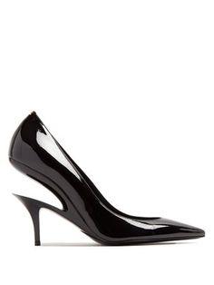 Suspended-heel patent-leather pumps    Maison Margiela   MATCHESFASHION.COM UK