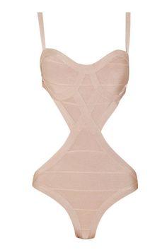 Hourglass  Hervé Léger Cutout Bandage Swimsuit, $427.50
