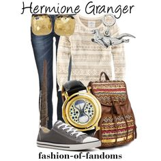 Hermione Granger from Harry Potter Character Inspired Outfits, Disney Inspired Outfits, Themed Outfits, Disney Outfits, Disney Clothes, Emo Outfits, Tomboyish Outfits, Women's Clothes, Mode Harry Potter