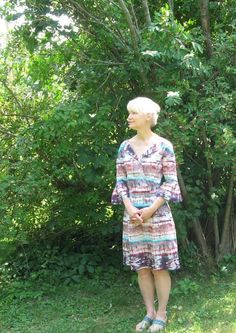 Coral and Turquoise Sunset Dress #burdastyle #sew #diy #sewing #member #project