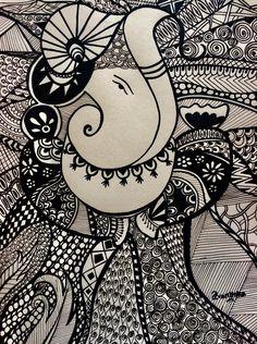 Mandala Art Lesson, Mandala Artwork, Mandala Drawing, Mandala Painting, Ganesha Painting, Ganesha Art, Madhubani Art, Madhubani Painting, Doodle Art Designs