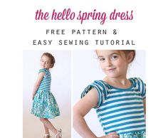 Free pattern: Hello Spring dress for little girls