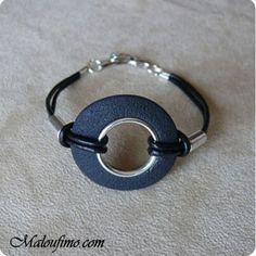 Large Grommet Bead  Tutoriel bracelet unisexe