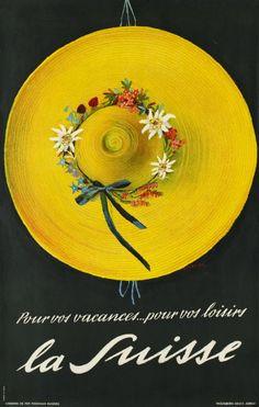 1937 Pour vos vacances...pour vos loisirs, la Suisse,Switzerland vintage travel poster