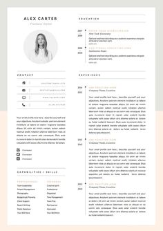 Modern Resume Template & Cover Letter Icon Set por OddBitsStudio If you like this design. Check others on my CV template board :) Thanks for sharing! Resume Layout, Resume Format, Resume Tips, Resume Cv, Resume Ideas, Cv Ideas, Free Resume, Resume Writing, Resume Review