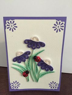 This is a beautiful handmade card for Birthday or just any special occasion The base is a quality 250gsm cardstock. Card size is an A5 and comes with a an envelope The card lined on the inside with recycled white paper and is blank, so you can add your own personal message. All my cards