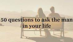 Who doesn't loooove getting to know their SO on a deeper level? Ranging from silly to serious, I've compiled a list of the best questions to ask your man. I love these lists because you… Fun Questions To Ask, Deep Questions, Boyfriend Questions, Relationship Advice, Relationships, Marriage Goals, Marriage Life, Daily Horoscope, Your Man