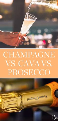 Champagne, Cava, Prosecco: What's the Difference Between Sparkling Wines? #prosecco #champagne #cava #sparklingwine #wine