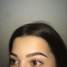 How I'd look taking a pic of my freshly done brows
