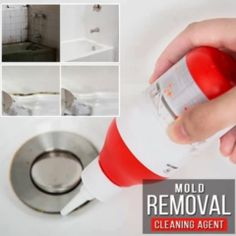 Instant Mold Remover Gel - Home Cleaning Products Diy Home Cleaning, Bathroom Cleaning, House Cleaning Tips, Cleaning Hacks, Cleaning Supplies, Cleaning Products, Bathroom Mold Remover, Mold In Bathroom, Cleaning Ceilings