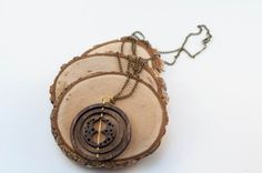 Hermione's Time Turner Wood Necklace