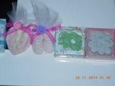 Bebek Mevlüt'ü ve özel günler için nikah şekeri tülle süslenmiş modeller sabun ve tas nikah şekerimiz 2.5 ₺