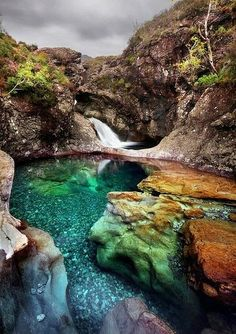 The fairy pools are just one of the many places I visit often in Scotland. They are a magical and mystical place. Fairy Pool, The Isle of Skye, Scotland Places Around The World, Oh The Places You'll Go, Places To Travel, Places To Visit, Fairy Pools Scotland, Dream Vacations, Vacation Spots, All Nature, Beautiful Landscapes