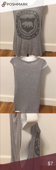 California Republic Tank Top Gray California Republic tank top. Loose fit with low sides. (See pic 3). Very comfortable. Bought it for my trip to California a few months ago and only wore it twice. Size large, but could fit a small-large. (I'm a medium and liked the fit) love j Tops Tank Tops