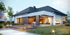 Decorating Your American Bungalow Style House Modern Style Homes, Modern House Design, Bungalow Style House, One Storey House, Facade House, Home Fashion, Modern Architecture, House Plans, House Styles