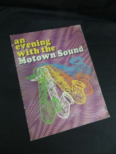 An Evening With the Motown Sound Program Supremes Temptation Smokey Gaye Detroit