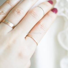 thin bandthin slim band stackable ring layering ring by applelatte