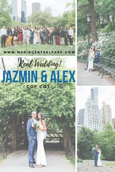 Wedding in Cop Cot, Central Park, New York in May