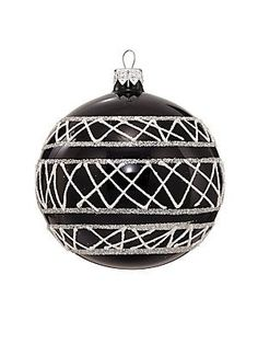 Dagmara Shiny Glass Ball Ornament - No Color