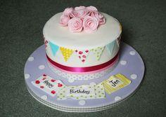 Bunting Birthday Cake by Abbie Dann