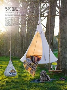 Hanging pods via Living Etc magazine