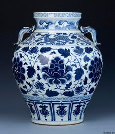 A Magnificent Early Blue And White Baluster Jar YUAN DYNASTY, MID-14TH CENTURY