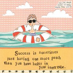 """""""Success is sometimes just having one more patch than you have holes in your inner tube."""" Leigh Standley is the artist, writer and owner of Curly Girl Design, Inc. Curly Girl Design and Leigh's line o"""