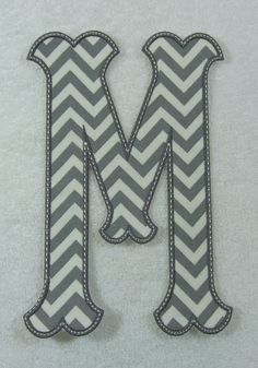 Caroline Single Monogram (X-Large) Embroidered Iron On Patch MADE TO ORDER