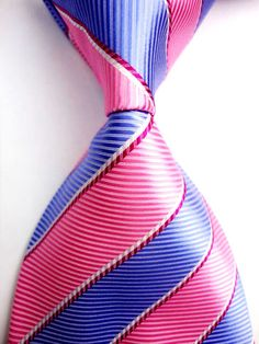 Black Pink Blue Red White Stripe Striped New Classic 100/%Silk Men Tie Necktie*