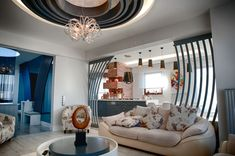 This contemporary residence designed by Hasan Ayata Interiors is located in Istanbul, Turkey.