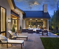 Patio takes advantage of summer in the mountains Contemporary Patio Grounds by Brewster McLeod Architects