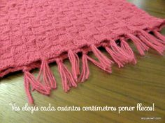 Ponchito Tejido A Dos Agujas – Alicia's Own Knit Baby Dress, Baby Knitting, Crochet, Macrame, Cowl, Long Scarf, Ideas, Dresses, Knit Shawl Patterns