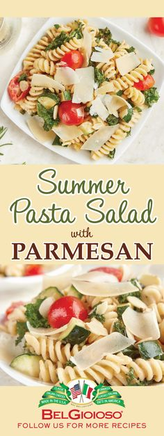 Kick off summer with this dreamy, creamy Mascarpone and Parmesan Pasta Salad. Parmesan Pasta, Parmesan Recipes, Pasta Recipes, Salad Recipes, Cooking Recipes, Summer Pasta Salad, Summer Salads, Summertime Salads, Summer Recipes