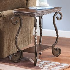 Signature Design By Ashley Rafferty Brown Chair Side End Table