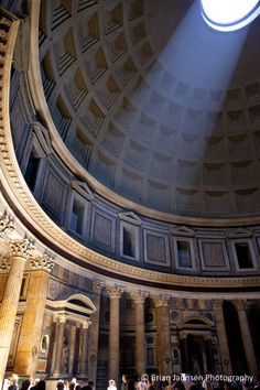 Interior of the Pantheon in Rome, Lazio Italy. © Brian Jannsen Photography
