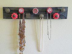 Jewelry organizer necklace holder jewlery holder 9 knob necklace