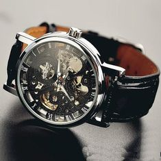 56a499d66d7 Stan vintage watches — Handmade Vintage Leather Chain Hollow Out Mechanical  Watch (WAT0042)