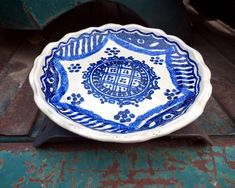 "Gorky Gonzalez Blue and White Plate 9"" Wall Hanging, Talavera Pottery Mexican Folk Art, Rustic Southwestern Home Decor, Housewarming Gift"