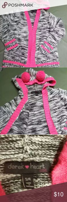 Soft long cardigan for girls 4T In excellent condition. Best with jeans and boots. Derek Heart Jackets & Coats