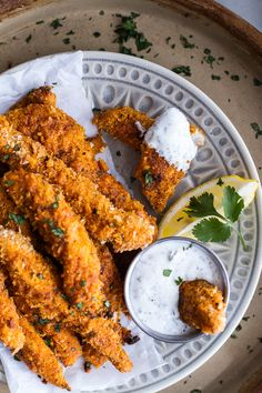 Baked Black Pepper Rub Chicken Fingers with Greek Yogurt Ranch by halfbakedharvest #Chicken_Fingers