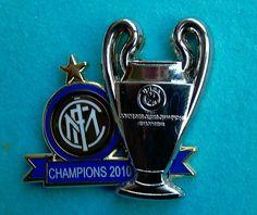 Distintivo spilla pin badge Uff. F.C. INTER  CAMPIONE D EUROPA 2010 risoluz. 3D
