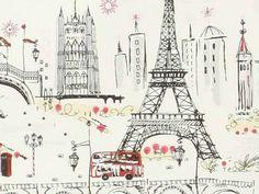Project Nursery - Anthropologie Paris Wallpaper