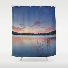 Pink reflections Shower Curtain by Guido Montañés - $68.00